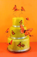 butterflies for your wedding cake