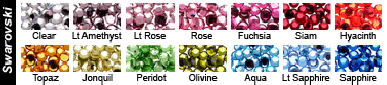 swarovski crystal color choices from vdc