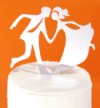 precious metals (tm) dancing bride and groom wedding cake topper by vdc