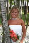 Nicole wore our multi-strand organza necklace for her beautiful destination wedding!