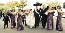 new orleans second line bride and groom wedding procession