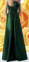 bridesmaid gown in emeral green