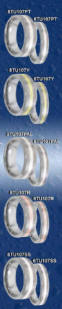 heavy stone rings tungsten inlay wedding bands