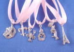 sterling silver cake charm 6-packs - nola charm 6-pack shown here